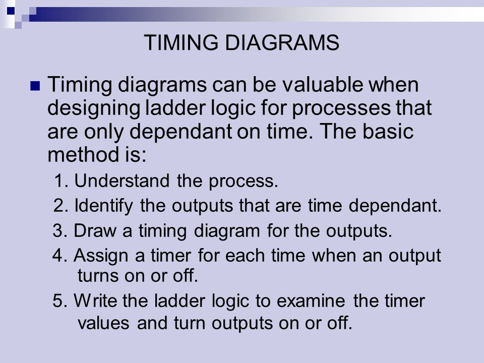 The programmable logic controller ppt download timing diagrams timing diagrams can be valuable when designing ladder logic for processes that are only ccuart Image collections