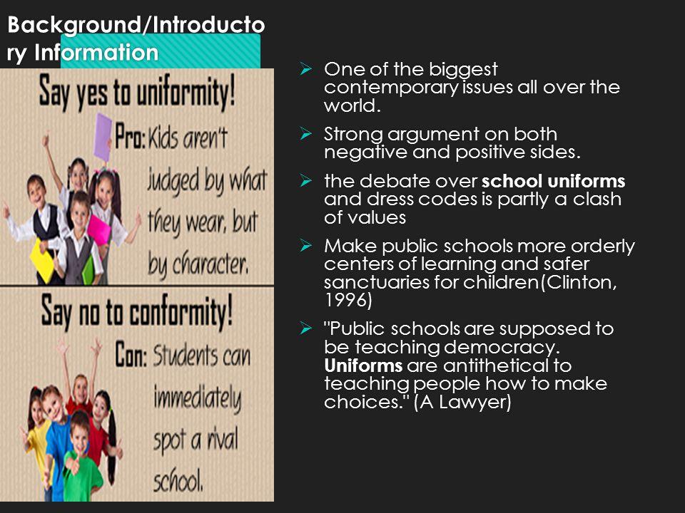 debate com school uniforms
