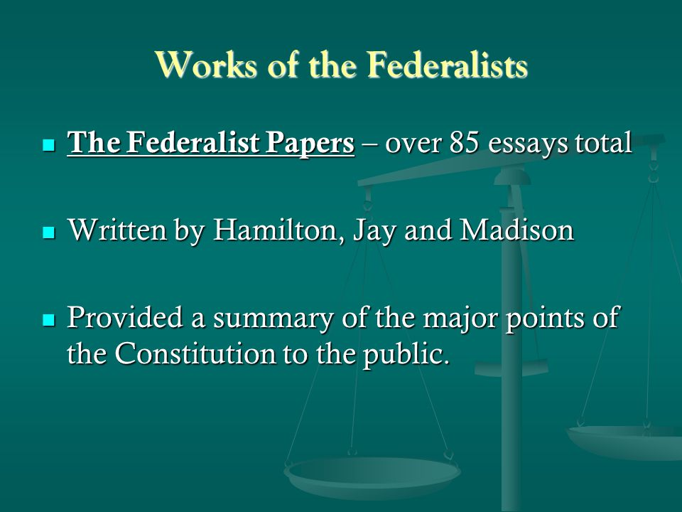 Works of the Federalists