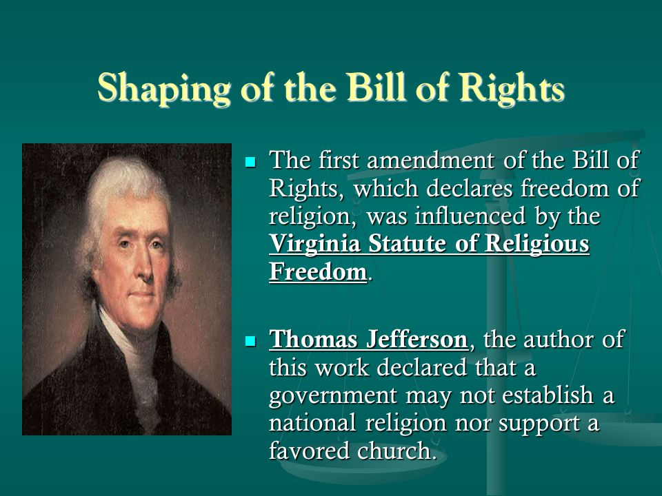 Shaping of the Bill of Rights