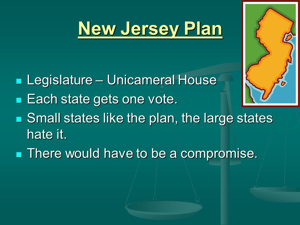New Jersey Plan Legislature – Unicameral House