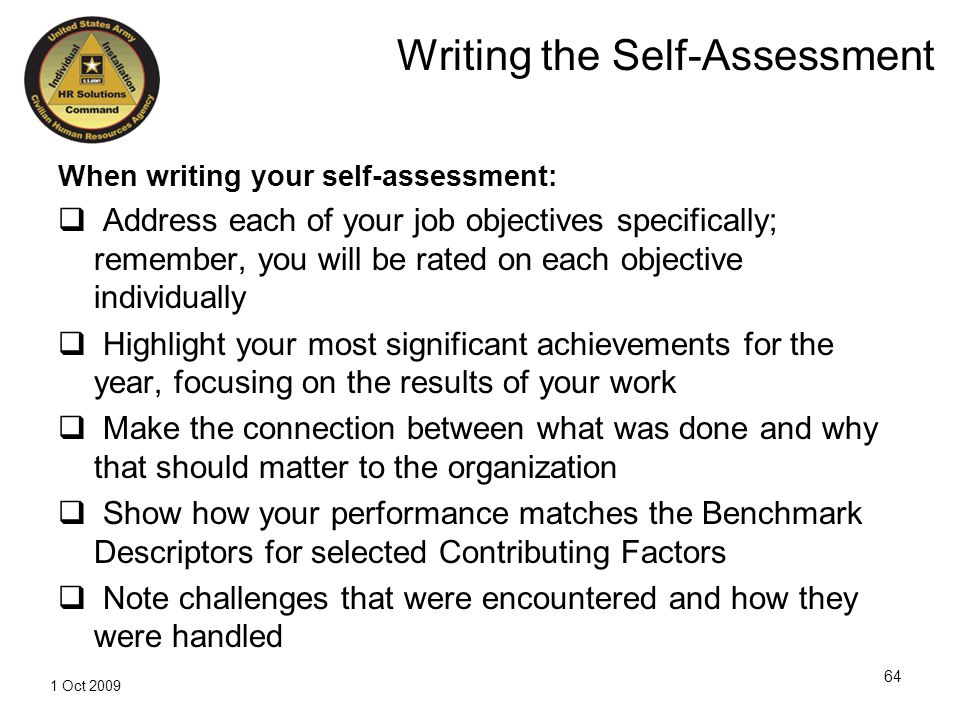How to write a self-appraisal