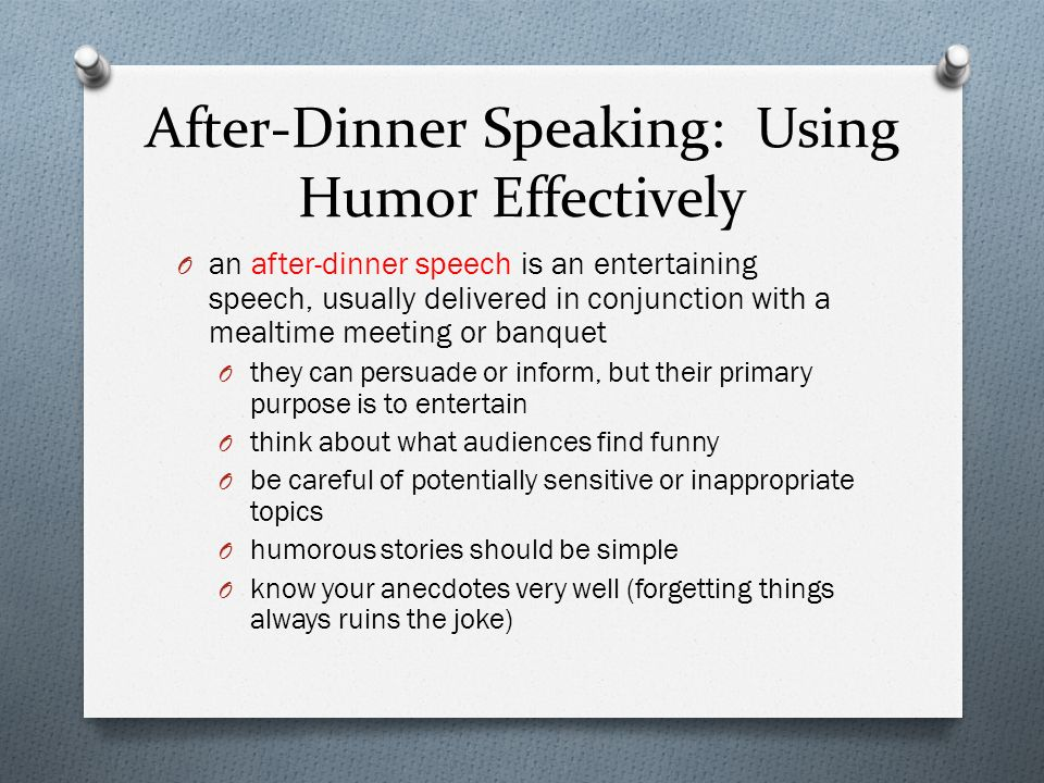 After-Dinner Speaking: Using Humor Effectively