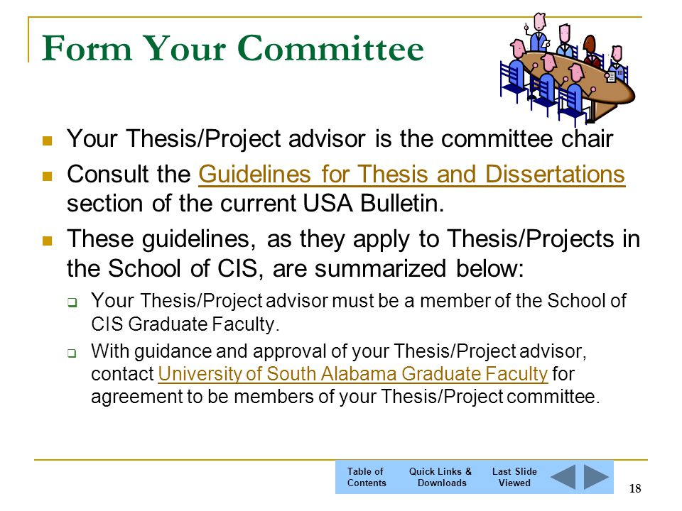 forming thesis committee
