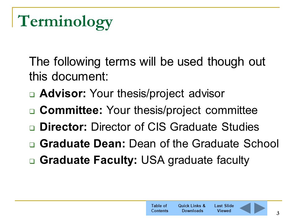 thesis advisory committee All members of a dissertation advisory committee must have graduate faculty status at prairie view a&m university students should consult with their committee chair.