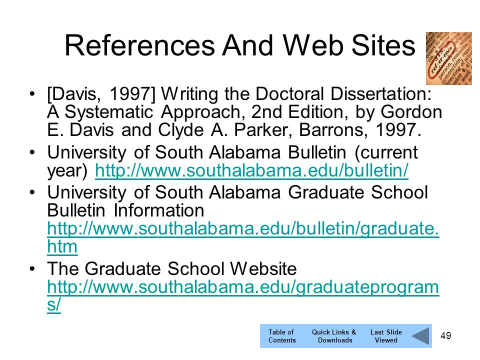 Davis and parker writing the doctoral dissertation