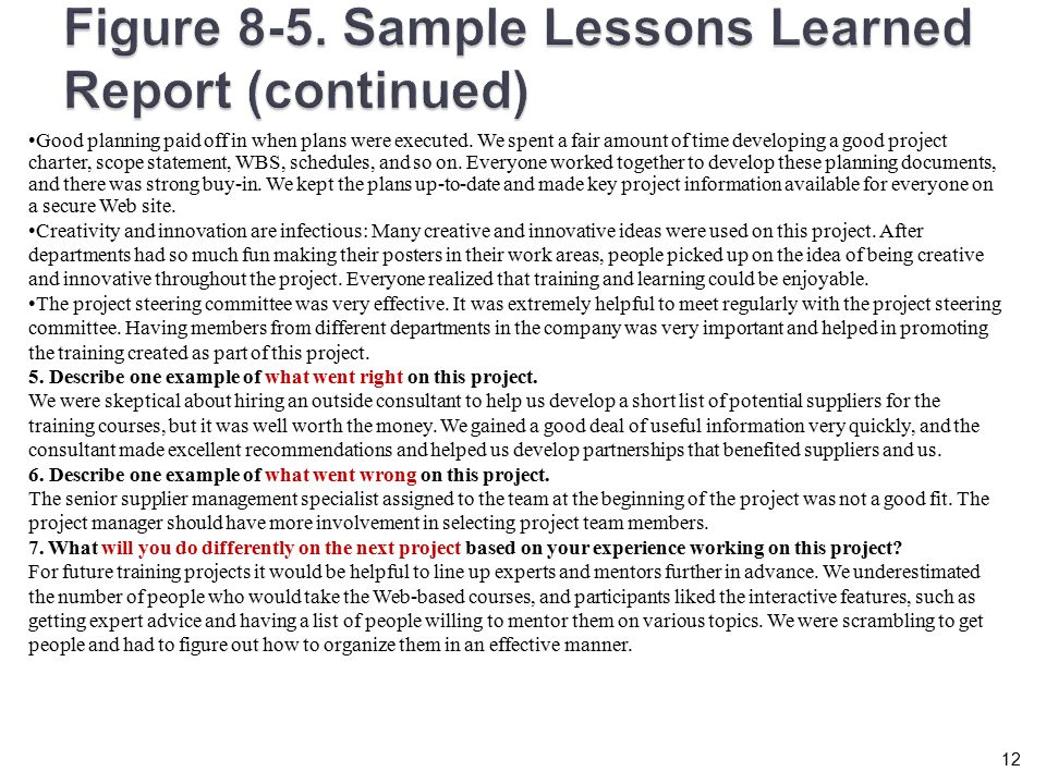 Lessons Learned Template Excel from slideplayer.com