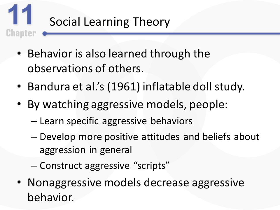 Social learning theory and aggression