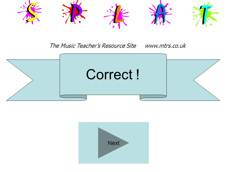 The Music Teacher's Resource Site www.mtrs.co.uk