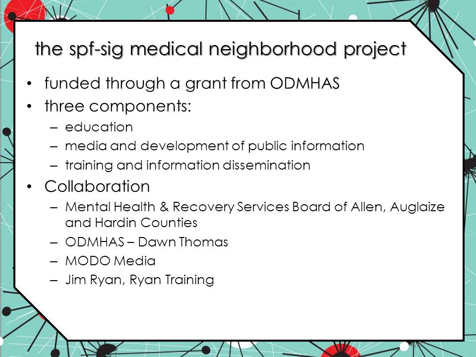 the spf-sig medical neighborhood project