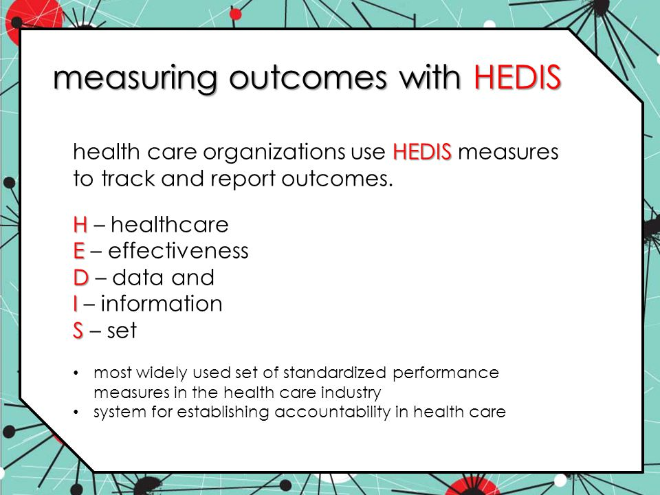measuring outcomes with HEDIS