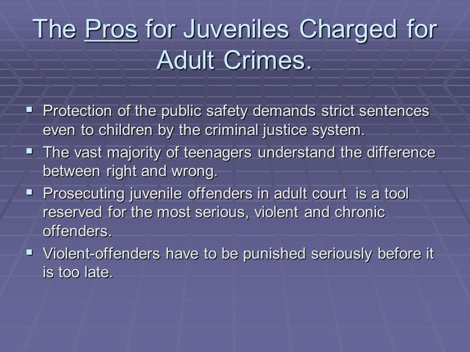 Phrase... Differencessimilarities between adult and juvenile courts theme