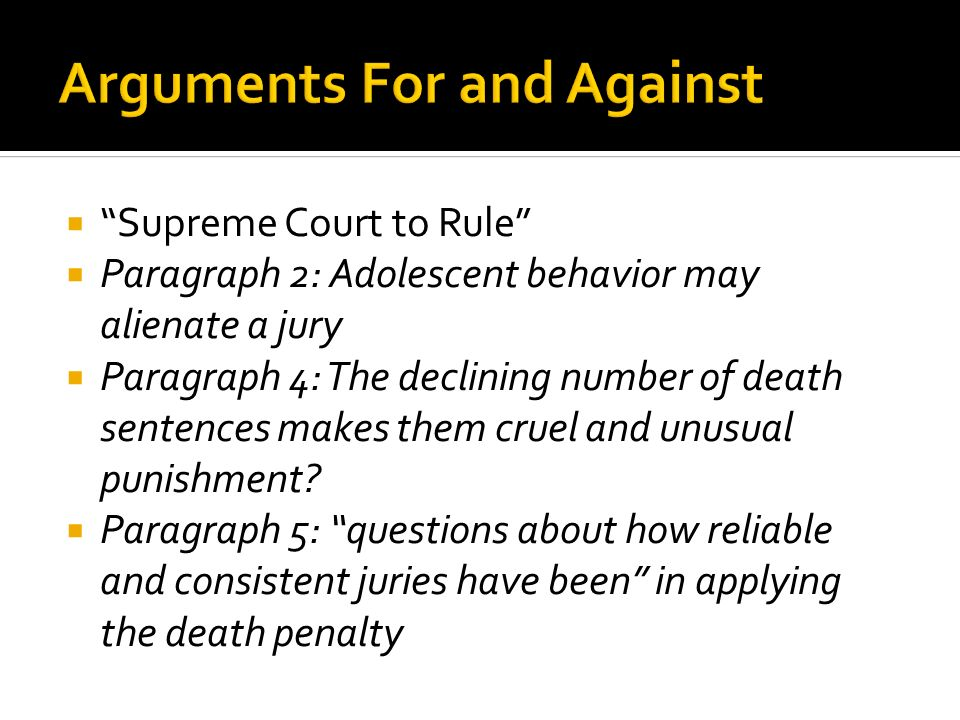 death penalty thesis question This sample essay on the death penalty gives a series of strong arguments against the thesis thesis services select the question has again and again.
