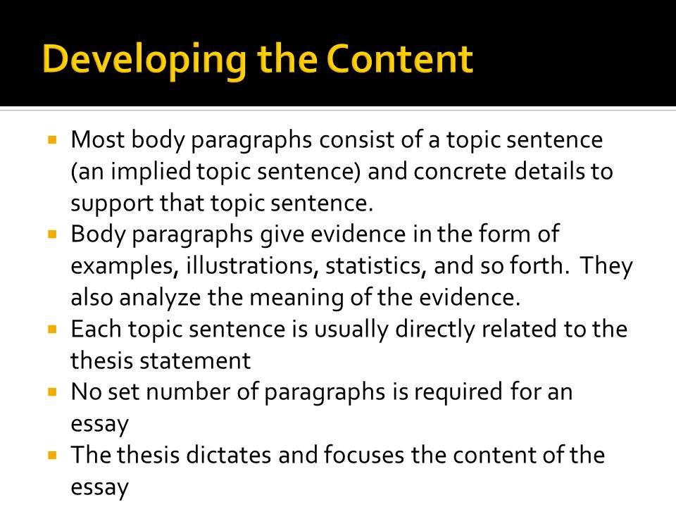 define supporting details essay Persuasive essay characteristics of a persuasive essay a thesis has two main components – a claim and the supporting details define, and/or describe the.