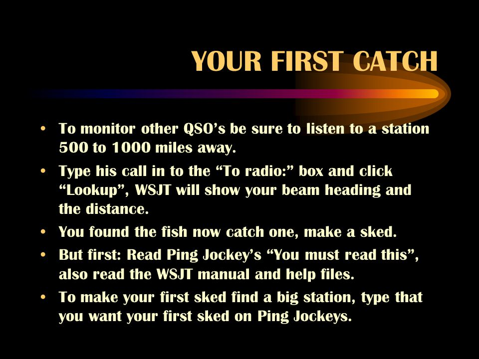 An introduction to wsjt ppt video online download for The fish radio station