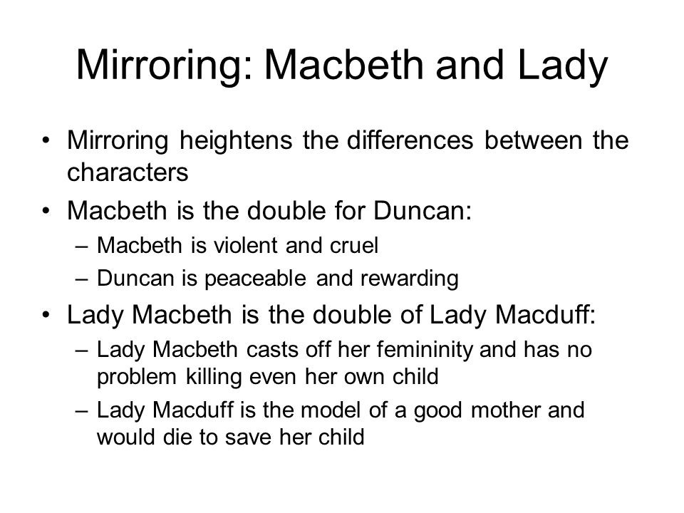 compare and contrast the murder of king duncan to the murder of banquo In contrast to today driving ambition caused macbeth and his wife to murder king duncan because of their desire for banquo will avenge the king's murder.