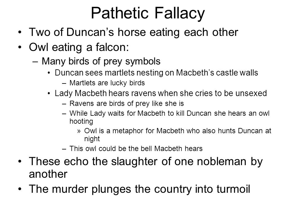 Logical and Pathetic Fallacies