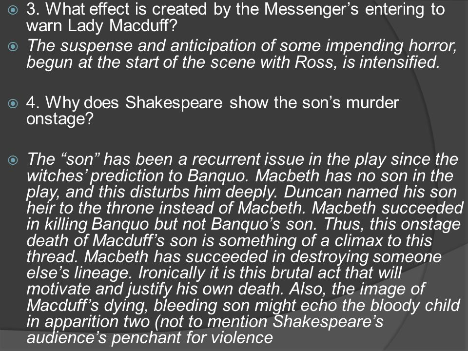 macbeth building suspense in act 2 Suspense in the story of macbeth essay act 1 scene 1+2 in act 2 scenes 1   the stage directions to build up tension, and fear in the reader, and macbeth.