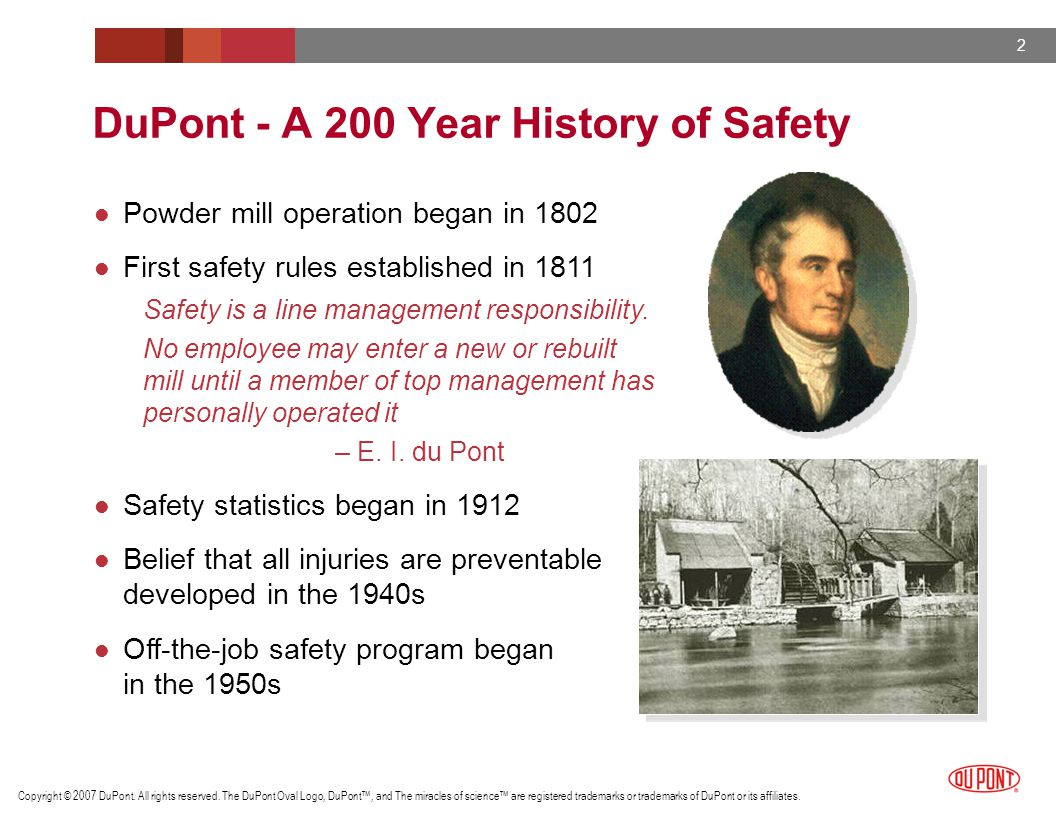 DuPont - A 200 Year History of Safety