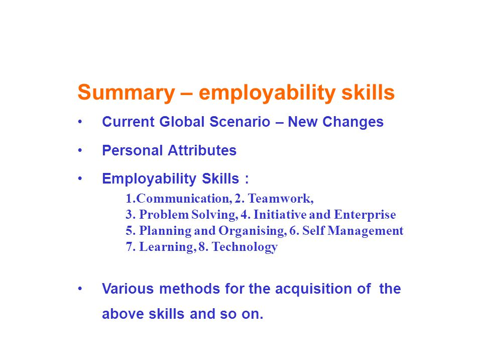 Top 10 Employability Skills