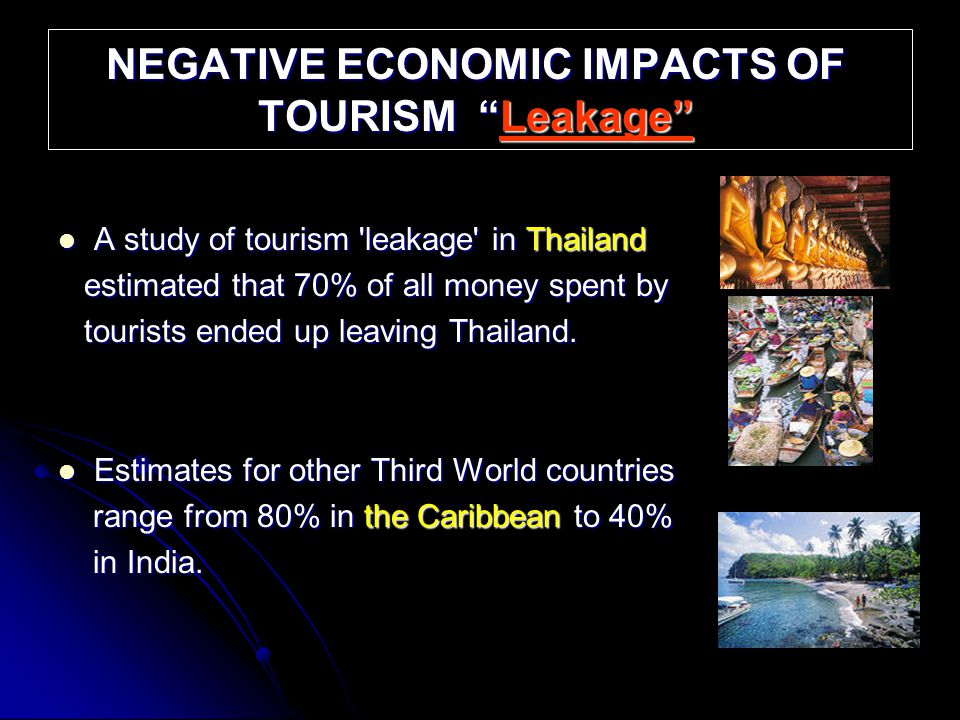 negative economic impacts of tourism essay The impacts of tourism industry on host the effect can be positive or negative on the host community economic impact of tourism.