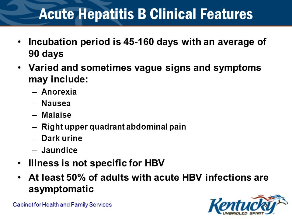 Acute Hepatitis B Clinical Features