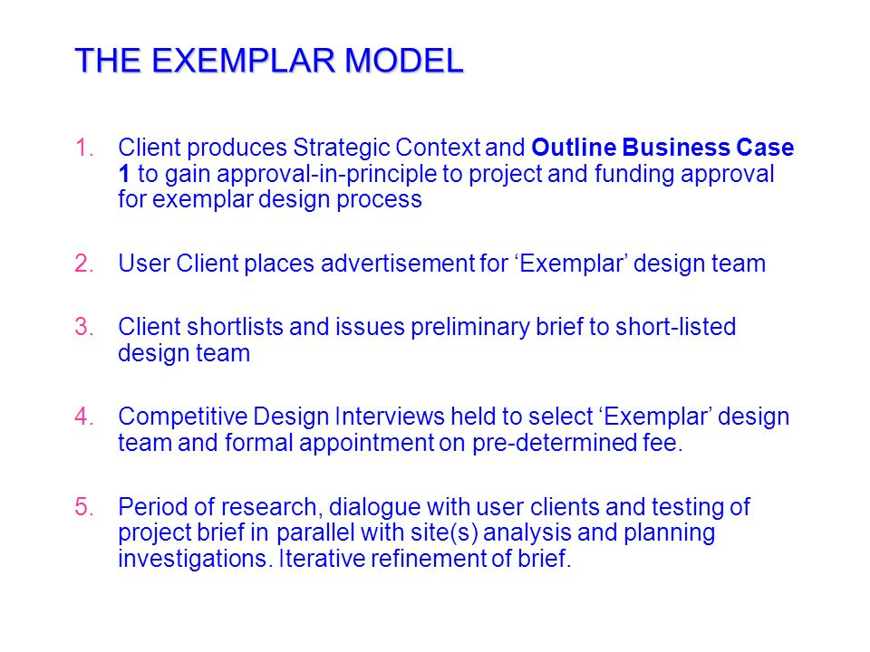 THE EXEMPLAR MODEL