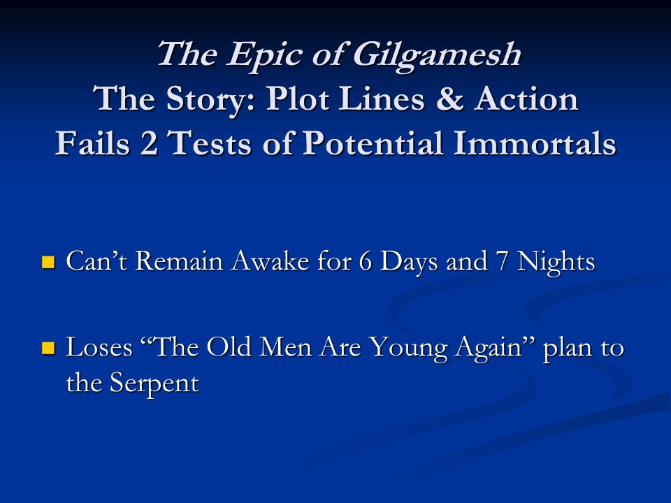 a character analysis of the epic of gilgamesh