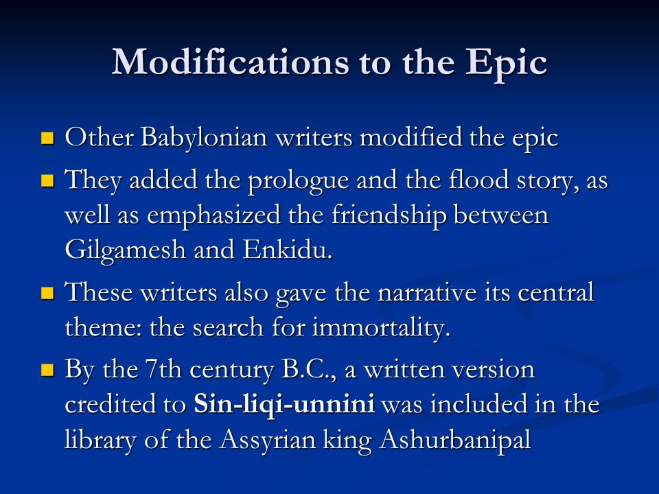 an analysis of the theme of immortality in the epic of gilgamesh an ancient epic poem Andrew george, professor of babylonian, school of oriental and african studies (soas), university of london the epic of gilgamesh is a 4,000-year-old mesopotamian poem about a hero who embarks on.