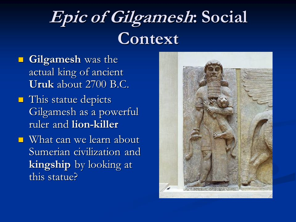 the epic of gilgamesh essay Start studying part 3: writing to analyze the epic hero in gilgamesh learn vocabulary, terms, and more with flashcards, games, and other study tools.