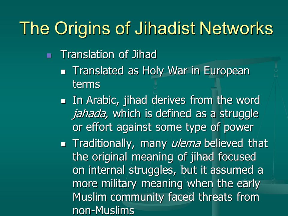 the changing definition of jihad essay Subscribe to receive the trace's daily roundup of important gun how redditors are changing the way the media counts and according to that definition.