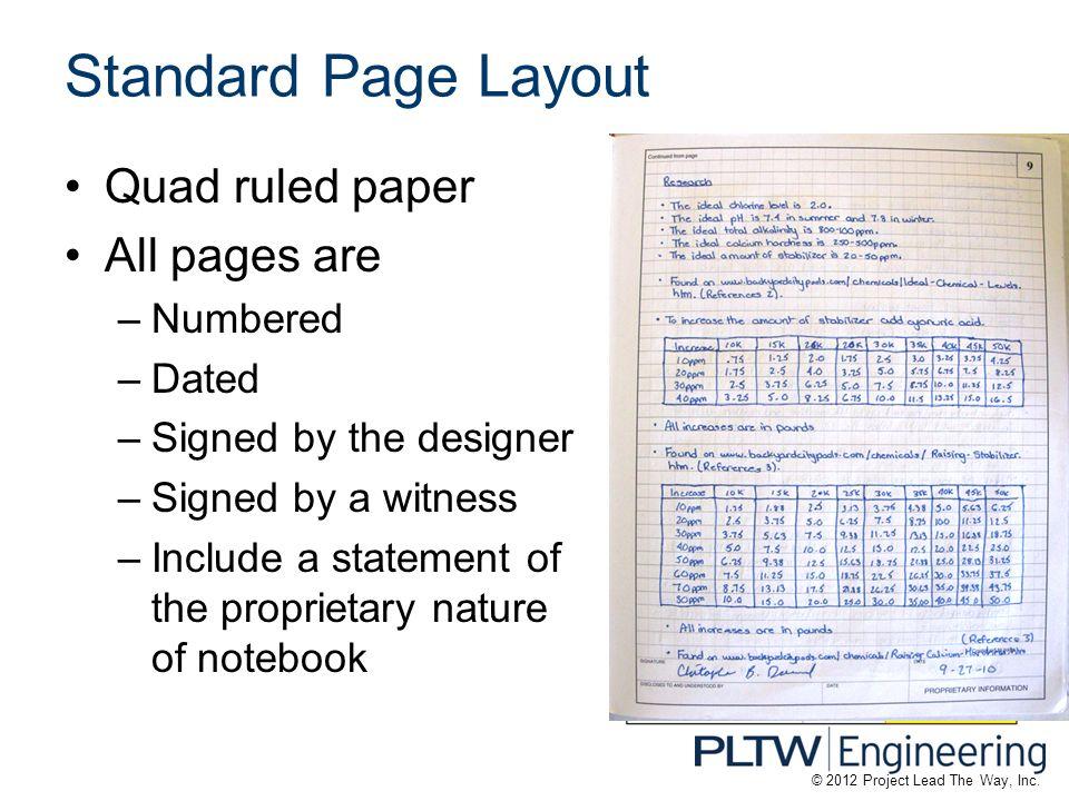 quad ruled paper