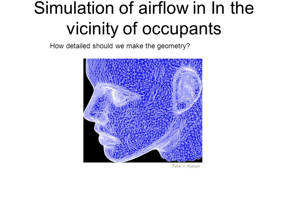 Simulation of airflow in In the vicinity of occupants