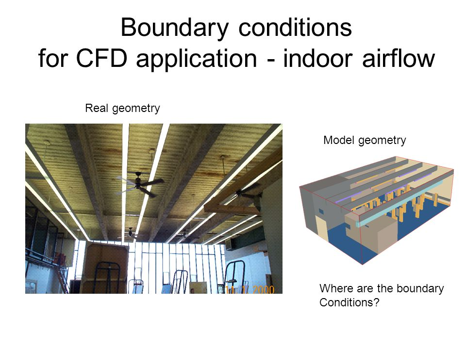Boundary conditions for CFD application - indoor airflow