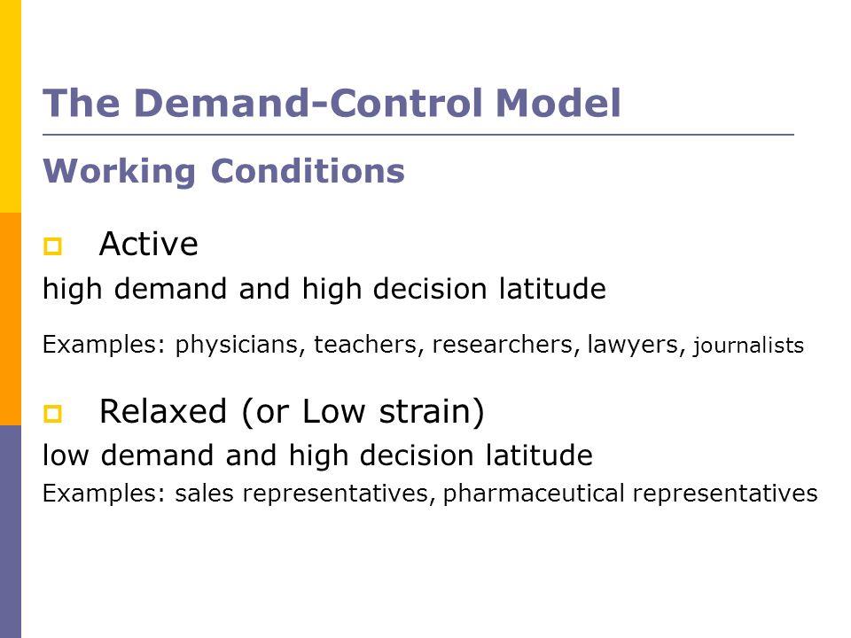 The Demand-Control Model