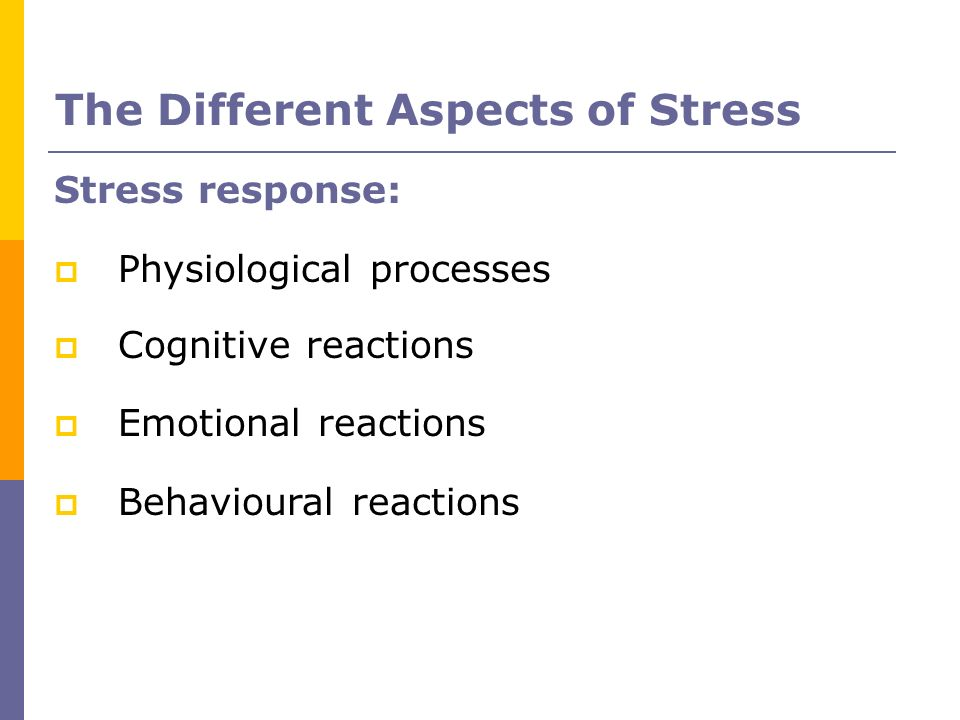 The Different Aspects of Stress