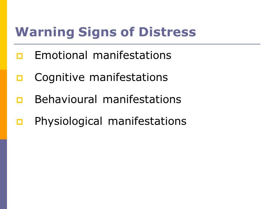 Warning Signs of Distress