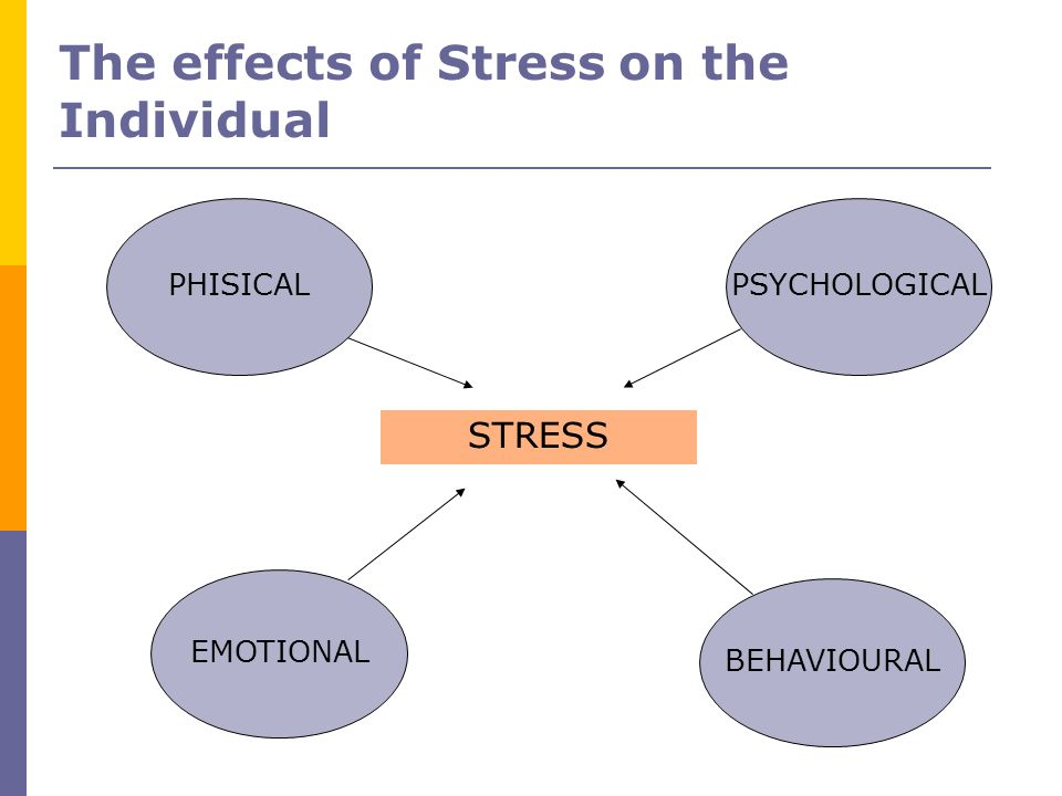 The effects of Stress on the Individual