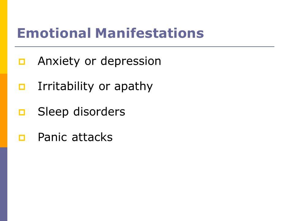 Emotional Manifestations