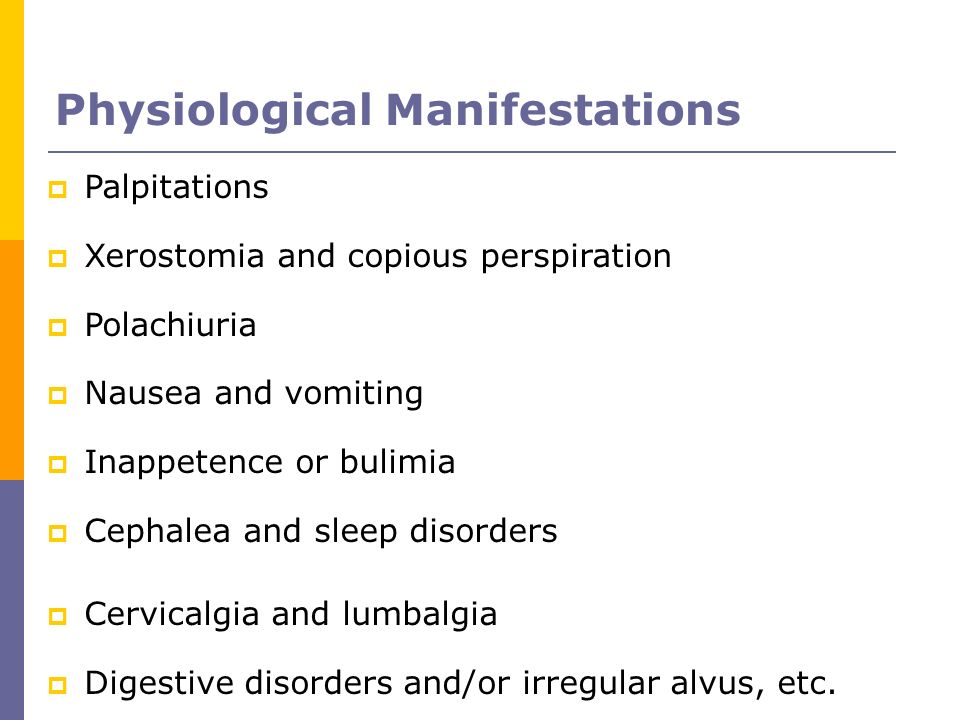 Physiological Manifestations