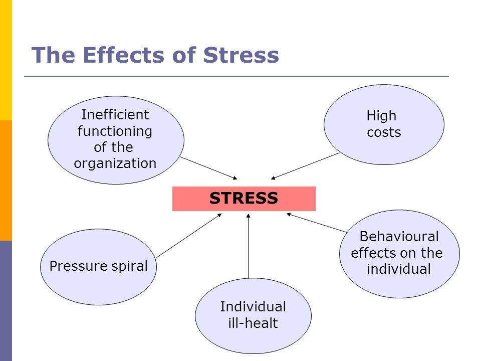 The Effects of Stress STRESS High Inefficient costs functioning of the
