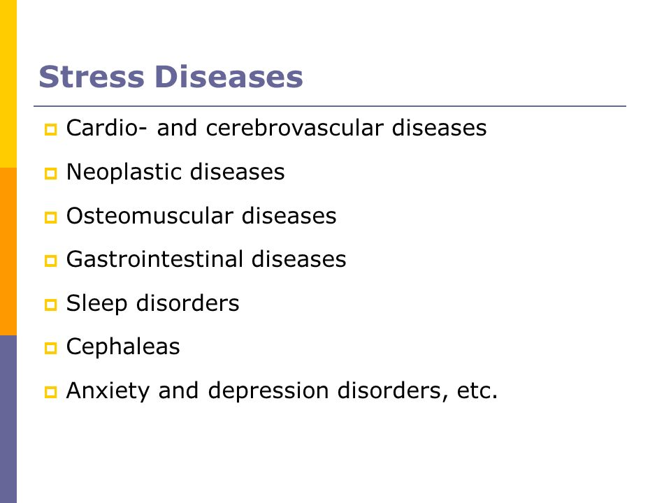 Stress Diseases Cardio- and cerebrovascular diseases