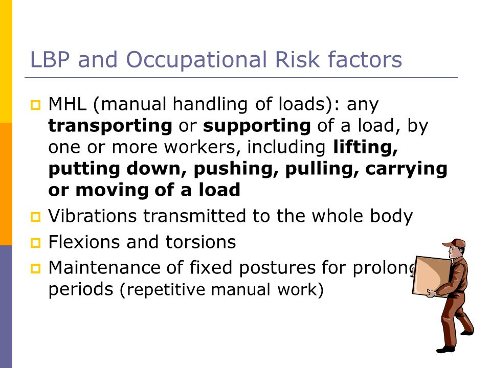 LBP and Occupational Risk factors