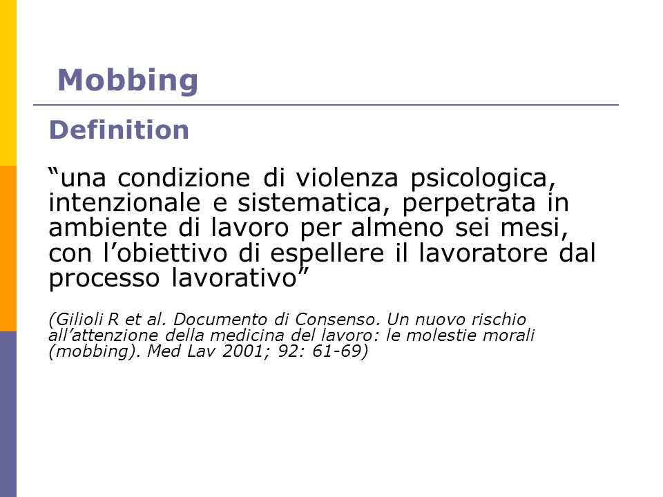 Mobbing Definition.