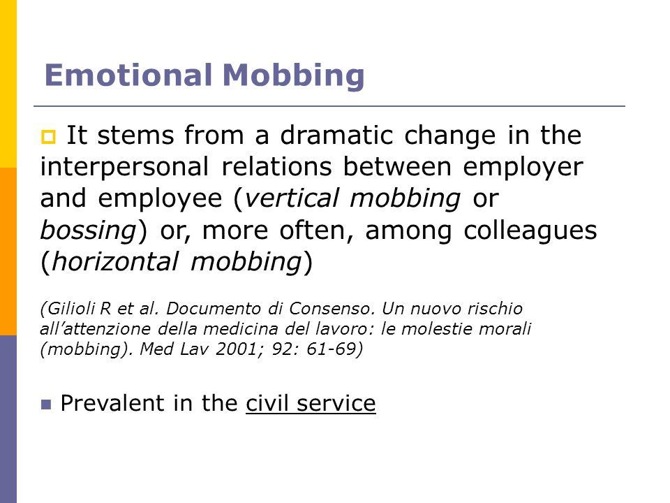 Emotional Mobbing