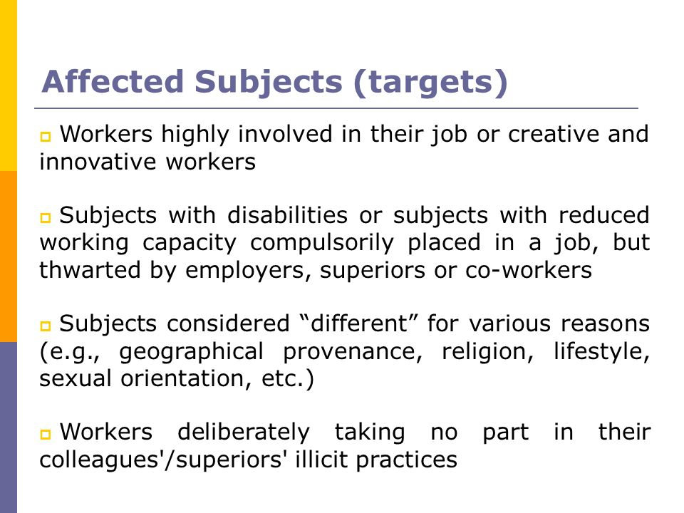 Affected Subjects (targets)‏