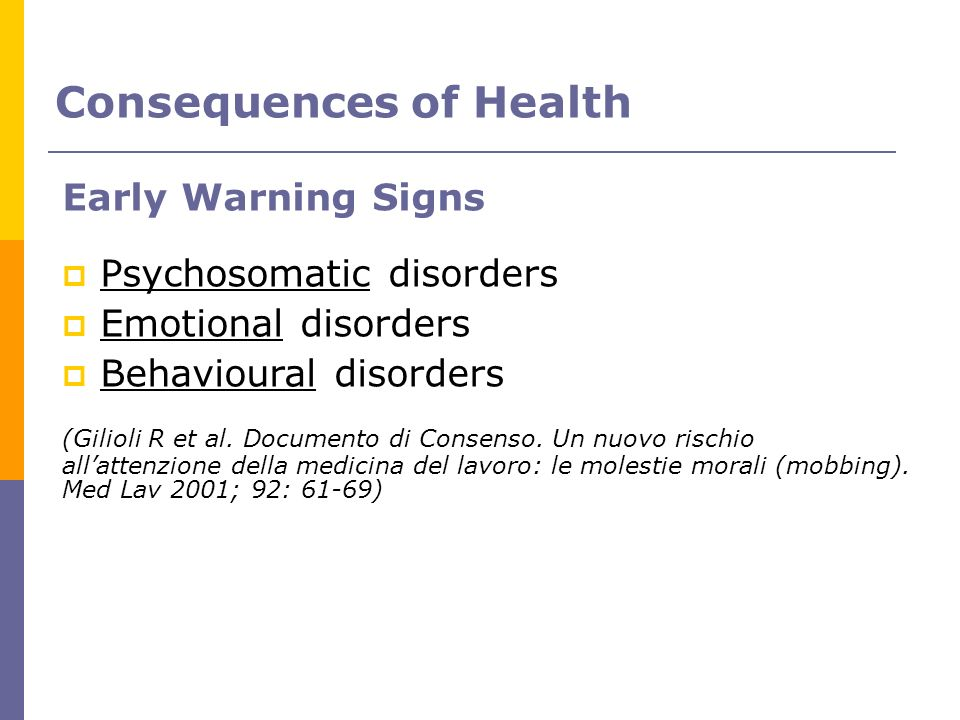 Consequences of Health