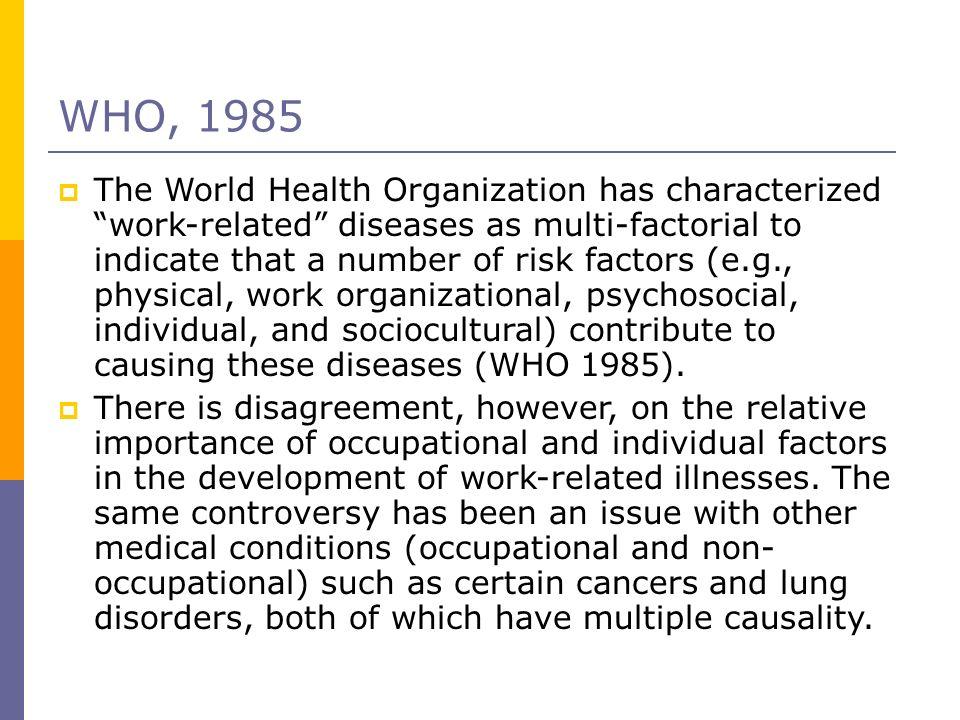 WHO, 1985