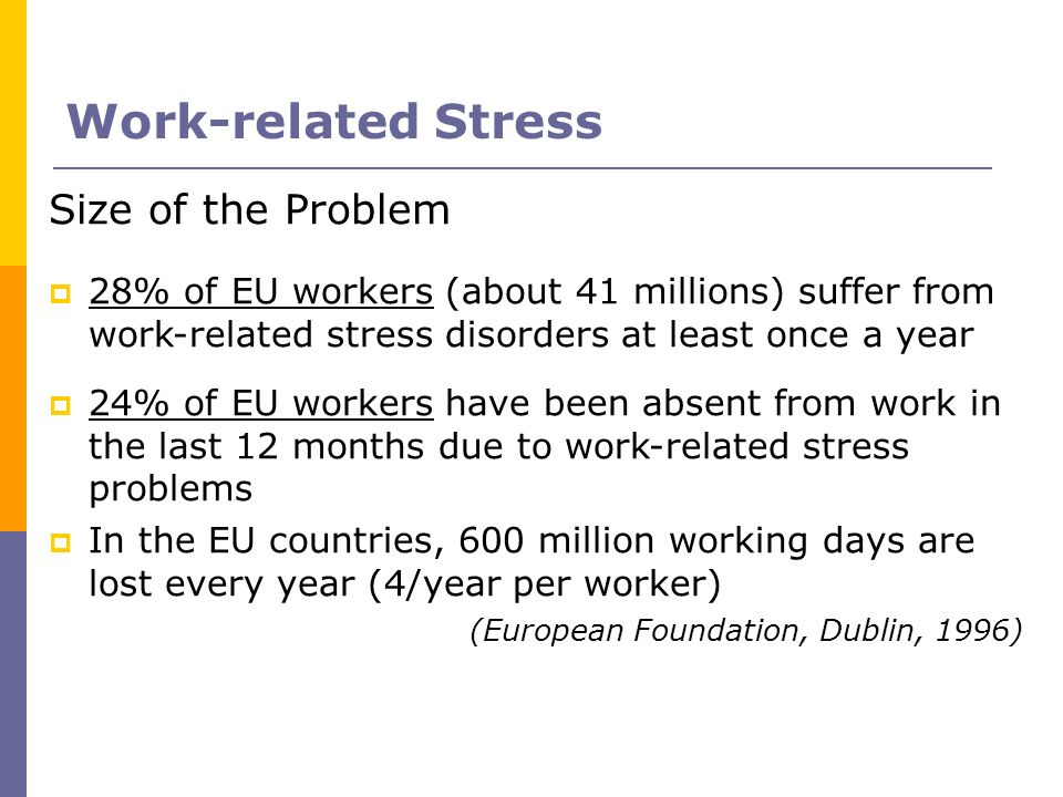 Work-related Stress Size of the Problem