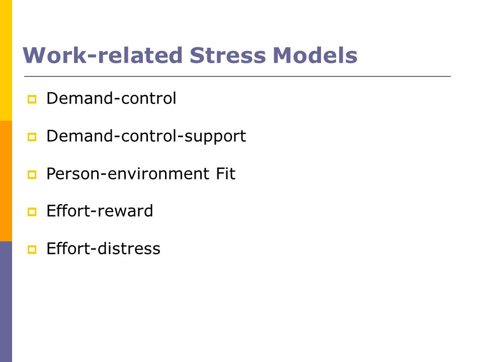 Work-related Stress Models
